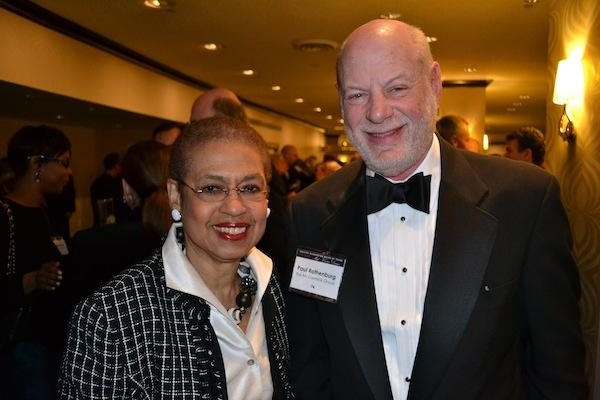Eleanor Holmes Norton, left, congresswomen for D.C., with Paul Rothenburg of The McCormick Group.