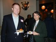 More than 100 professionals from Maryland's bioscience community gathered at Stella Restaurant in Rockville Nov. 30 for the BioBuzz Montgomery County happy hour. Mixing and mingling were Todd Pelham of Integrated BioTherapeautics and Carolyn Adler of Computer Technology Services