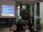 BOWA co-founder Joshua Baker gives a presentation.