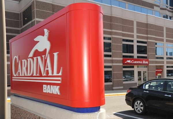 Cardinal Financial Corp. saw deposits, loans and assets rise, helping push its first quarter profits up more than 46 percent.