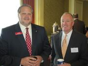 Jeff DiMeglio of Cardinal Bank, left, and George Decker of MacKenzie.