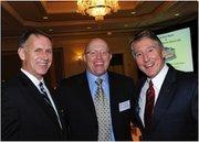 From left, Leonard Brown of Meridian Property Inc., Austin Kirkland of Cardiac Vascular & Thoracic Surgery Associates and F. Kevin Reynolds of Cardinal Bank.