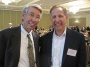 Stephen Fuller of George Mason University, left, and Barry Schwartz of Schwartz Enterprises Inc.