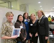 More than 80 women real estate professionals attended the D.C. Building Industry Association's Leaders in Development mentoring reception at Gensler on Nov. 14. Attendees included, from left, Maureen Dwyer of Goulston & Storrs, Kim Pagotto of DLA Piper, Barbara Werther of Ober Kaler, Katie Yuergens of Boston Properties and Sarah Hubbard of Skanska.