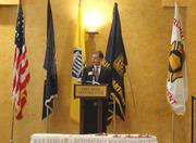 2012 Chamber Chairman Doug Brammer of Verizon welcomes guests to the awards.