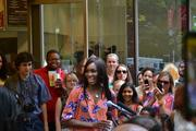 Tennis star Venus Williams kicked off the opening of Jamba Juice on 19th Street NW July 10. Williams did the usual ribbon-cutting honors, but also jumped behind the counter to mix up some smoothies.