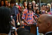 Tennis star Venus Williams kicked off the opening of Jamba Juice on 19th  Street NW July 10.