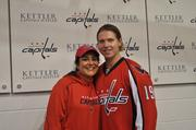The Washington Capitals hosted the popular Hockey 'n Heels on Nov. 9 at Kettler Capitals Iceplex in Arlington, opened only to members of the Capitals' female fan club, Club Scarlet. MIX 107.3 radio personality Chilli Amar kicked off the event, and is shown here with Washington Capitals center Nicklas Backstrom.