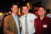 David Sutherland of Pace Global, center, with Burton White and Ed Buhain of Excella Consulting.