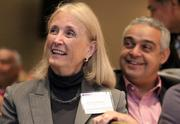 Virginia State Delegate Vivian Watts, front, and Yassar Elnaggar, American Deputy Ambassador to Egypt, were among the attendees at the Fairfax Chamber's event.