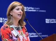 Julie Simmons, managing director of Human Capital Strategic Consulting and chair of the Fairfax Chamber's Women in Business group, introduced Hoda Kotb at the event.