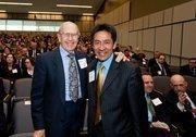 Preston Caruthers, left, and Arlington County Board Member Walter Tejada.