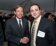 CIA Director David Petraeus, left, with Darren Wyatt, president of the School of Public Policy Student Association.