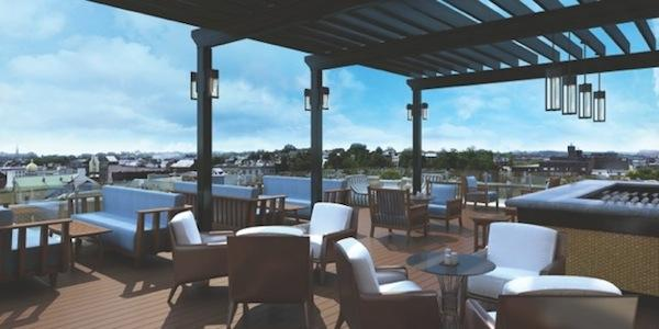 The rooftop Observatory at the newly renovated Graham Georgetown hotel  will serve dinner and weekend brunch.