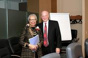 Graduate School USA board member Constance Newman posed with President and CEO Dr. Jerry Ice.