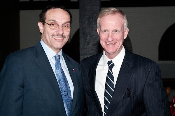 Jack Evans, D-Ward 2, right, with D.C. Mayor Vincent Gray