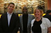 Härth at Hilton McLean Tysons Corner opened its brand new patio Oct. 20 and hosted a hat party to celebrate. Former Washington Redskins player Darrell Green, center, was on hand at the event, which collected donations to support the Darrell Green Youth Life Foundation, and is shown here with Mike Leon of Bisnow Media and Stephanie Snaposki of Hilton McLean Tysons Corner.