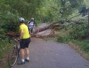 Bikers along the Capital Crescent Trail in Maryland had to work around a few extra obstacles in the days and weeks after Hurricane Irene hit the region in 2011.