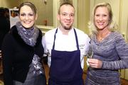 From left, Julie Stinar of Evensong Farms, chef Kyle Bailey of Birch and Barley and Melissa Harris of Flavor magazine.
