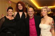 Robert Andrew Salon's Artistic Director Brian Washburn poses with, from left, Mary Jameson, Amy Lynch and Bebe Brown.