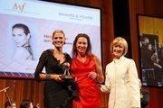 From left, Heidi Klum, Anja Gockel and Judy Woodruff.