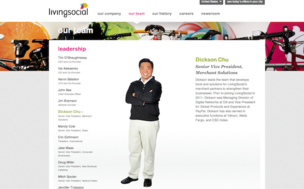 LivingSocial Senior Vice President Dickson Chu (still listed on the company's website) had led the merchant solutions unit since November. Chu and other executives were fired this week in one of the biggest shakeups at the daily deal company.