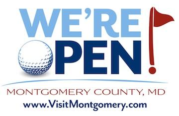 The logo for Montgomery County's new tourism campaign revolving around the U.S. Open games in mid-June