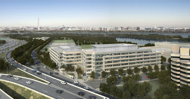 Boeing Co.'s planned Monument View headquarters in Crystal City.