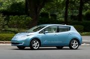 Other electric vehicle possibilities at Union Station include the Nissan Leaf, seen here.