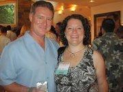 Chris Laggini, left, and Christine Schaefer, both of DLT Solutions