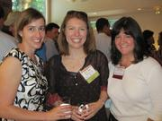From left, Katie Hanusic of SpeakerBox Communications, Kim Hart of Politico and Elizabeth Shea, also of SpeakerBox Communications.