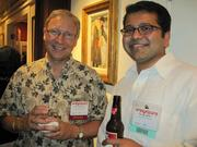 Bill Eisnaugle of Comcast Cable's Northern Virginia Office, left, and Parag Sheth of High Street Partners