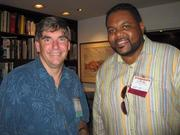 Rob Schumann of DateNight, left, and Carlos Diggs of NetLink Resource Group