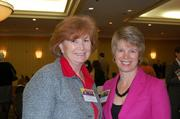 Patti Stevens, left, of Fairfax County Office of Public Private Partnerships and Tracy White of Reston Hospital Center.