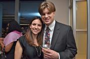 Ashley Owen of the Greater Reston Chamber of Commerce and Chris Hunter.