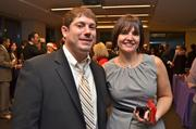 Matt Evans of Access National Bank and Amy Zydel, Undercover Printer.