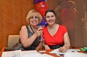 Andra Portnoy, left, and Amy Marlow, both of the Greater Reston Chamber of Commerce.