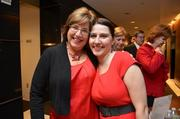 Kerrie Bunting Wilson of Reston Interfaith and Amy Marlow of the Greater Reston Chamber of Commerce.