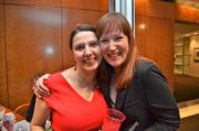 Amy Marlow, left, of the Greater Reston Chamber of Commerce and Jen Sterling of Red Thinking.