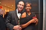 Mark Ingrao of the Greater Reston Chamber of Commerce and Lesley Green of m.b. LoGistics LLC