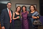 From left, C. Michael Ferraro of Training Solutions, Jacqui Higgins of Accents by Design, Angela Inzerillo of AdviCoach and Yvis Asin of Globitoya Balloons LLC.
