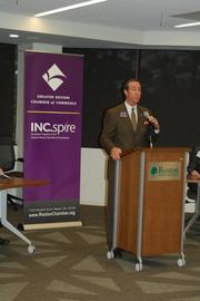 Mark Ingrao, president and CEO of the Greater Reston Chamber of Commerce, addresses the audience.
