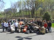 On March 27, Cityline Partners LLC, Transwestern, Wetland Studies and Solutions Inc. and Fairfax County government employees worked together to clean up Scotts Run Stream in Tysons Corner as part of this year's Potomac River Watershed Cleanup.