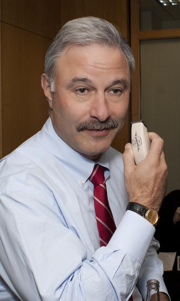 During the month of November, law firm BuckleySandler LLP joined thousands of teams worldwide to sponsor a Movember moustache-growing competition to raise money for prostate cancer research. BuckleySandler Chairman Andy Sandler showed off the official Movember razor.