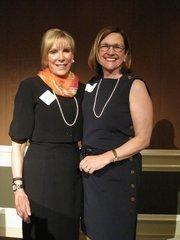 Barbara Schaeffer McDuffie of Baker Tilly, left, and Janet Davis of Brandywine Realty Trust.