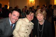 Board members Janet Hall and Chrtina Haire with Andy Haire.