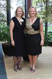 Potomac Falls Express Lube & Car Wash President and CEO Pat Wirth, left, was the featured speaker at the Oct. 13 Sterling Women networking luncheon at the National Conference Center in Lansdowne. She is pictured with Sterling Women founder Kristina Bouweiri of Reston Limousine.