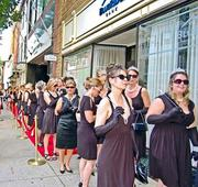 """Frederick was overrun by more than 300 Holly Golightly look-a-likes May 25 as part of a """"Breakfast at Tiffany's""""-themed fundraiser benefitting the Hurwitz Breast Cancer Foundation at Frederick Memorial Hospital."""