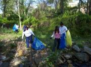 Employees from The Tower Cos. volunteered April 14 to clean up Rock Creek Park. Thirty volunteers picked up 76 bags of trash, 11 tires, 300-plus tons of metals and approximately 1,200 plastic bags.