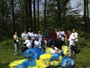 Employees from The Tower Cos., led by Tower Sustanability Manager Eugenia Gregorio, volunteered April 14 to clean up Rock Creek Park. Thirty volunteers picked up 76 bags of trash, 11 tires, 300-plus tons of metals and approximately 1,200 plastic bags.